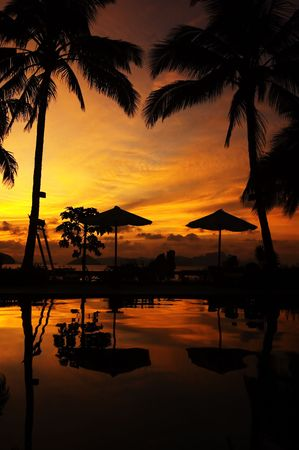 Sunset in El Nido, Palawan, Philippines photo