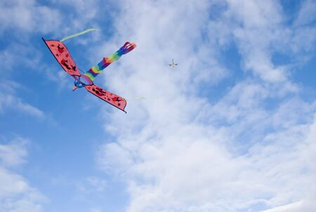 celebratory event: Kite against cloudy sky, Philippines Stock Photo