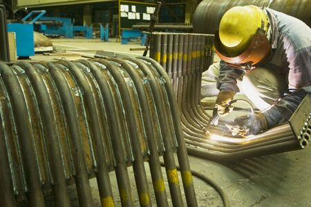 Male welder focused on job at factory Stock Photo - 3092275