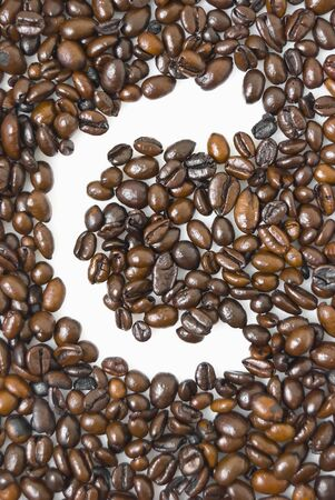 coffeebreak: Shot of coffee beans framing letter C Stock Photo