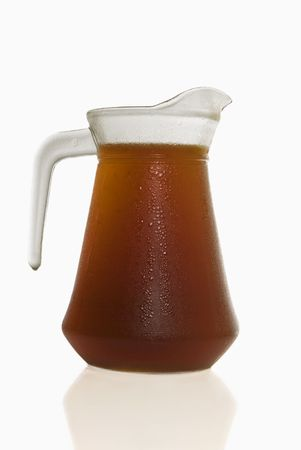 Pitcher of ice cold tea photo
