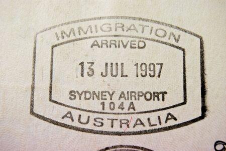 Full shot of dirty passport page photo