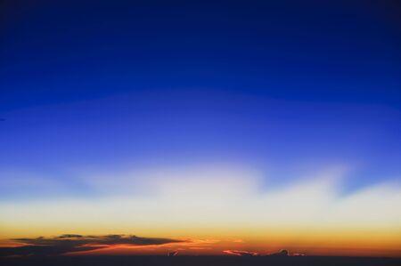 grandeur: The grandeur of sunset captured above 35,000 feet