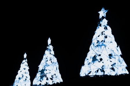 Christmas trees made from indigenous materials from the Philippines Stock Photo - 6065217