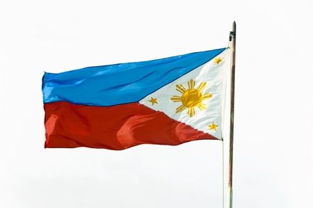 Full shot of wind blown flag of the Philippines photo