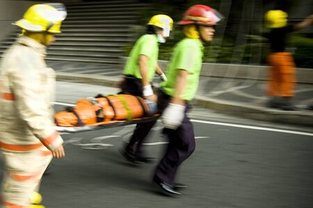 Firemen during fire drill in one of Metro Manilas cities Editorial