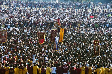 Millions of people attended the annual commemoration of the Feast of the Black Nazarene in Manila on January 9, 2010.