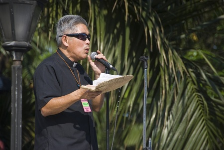 misconduct: Thousands of Filipinos from different sectors and religions marched to Liwasang Bonifacio in Manila and demanded the resignation of President Gloria Macapagal Arroyo following the revelations of star witness Jun Lozada about alledged kickbacks of top offi