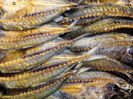 Dried and salted fish in Asian market