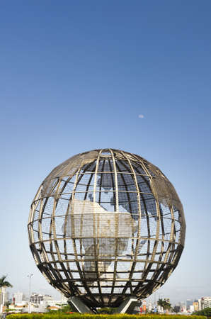Globe in front of Mall of Asia, the biggest mall in Asia