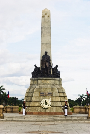 Monument of the national hero of the Philippines, Jose Rizal, in Luneta Park, Manila