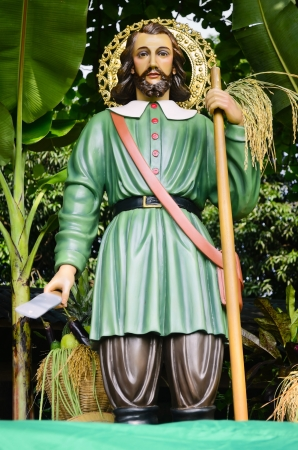 isidro: Statue of San Isidro Labrador, a patron saint of many towns in the Philippines.