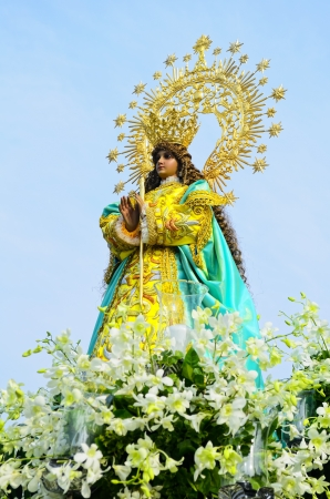 Statue of the Holy Mother Virgin Mary, Mother of God. photo