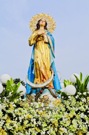 Estatua de la Santa Madre la Virgen Mar�a, Madre de Dios. photo