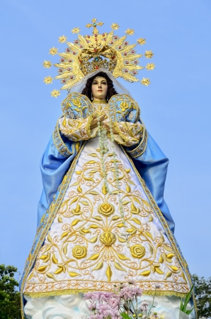 Statue of the Holy Mother Virgin Mary, Mother of God. Stock Photo