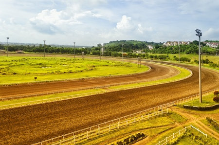 highend: San Lazaro Hippodrome, one of the highend racetracks in the Philippines. Editorial