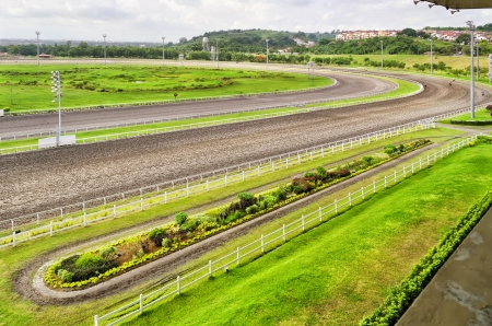 San Lazaro Hippodrome, one of the highend racetracks in the Philippines. Stock Photo - 21596500