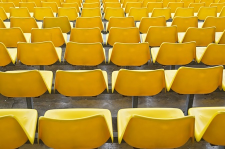 highend: Yellow bleacher seats in one of the highend racetracks in the Philippines.