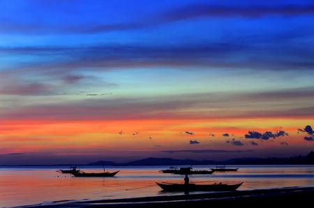 Outriggers off the coast of Calbayog City in Samar