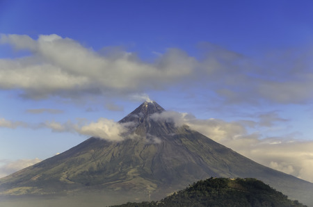 mayon: The perfect cone of Mayon Volcano, South of Luzon, Philippines Stock Photo