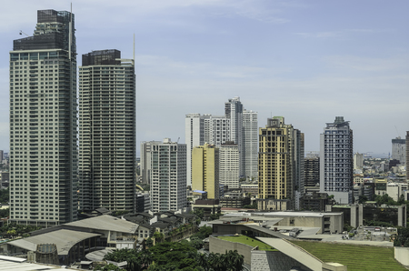 Modern urban buildings in Makati City, Manila, Philippines photo