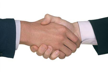 pacto: Detalle de las manos de dos hombres d�ndose la mano Foto de archivo