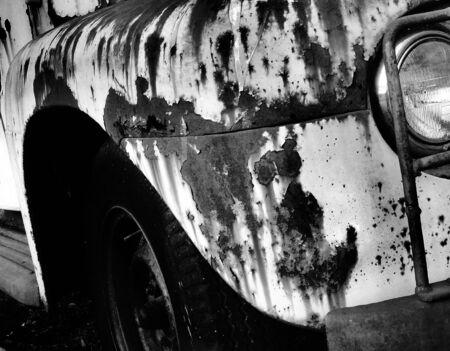 heavy: Rusty Truck Stock Photo
