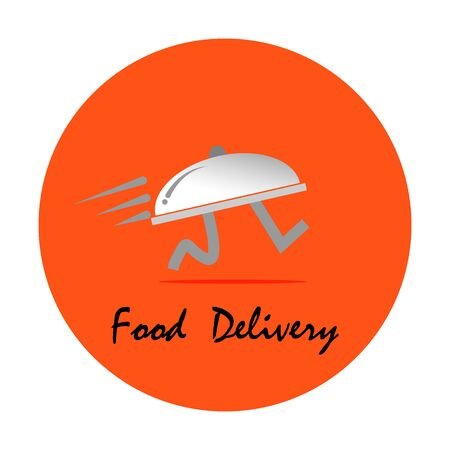 Images of food delivery concepts, images of food tray running