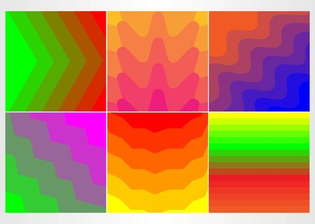 Colorful mosaic covers design. Minimal geometric pattern gradients.