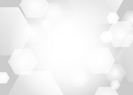 Abstract. Embossed Hexagon , honeycomb white Background ,light and shadow ,Vector Ilustracja