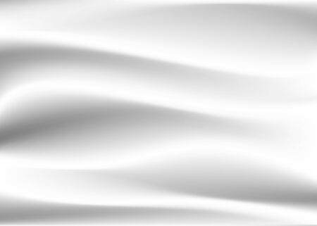 Abstract white and gray vector background. Satin luxury cloth texture