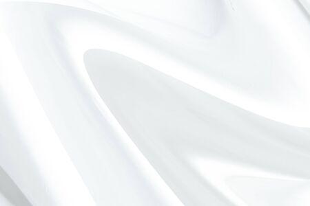 Astratto sfondo panno bianco con onde morbide.