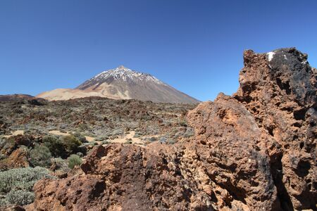 The dormant volcano of Mount Teide and the surrounding volcanic landscape on Tenerife in the Canary Islands Reklamní fotografie