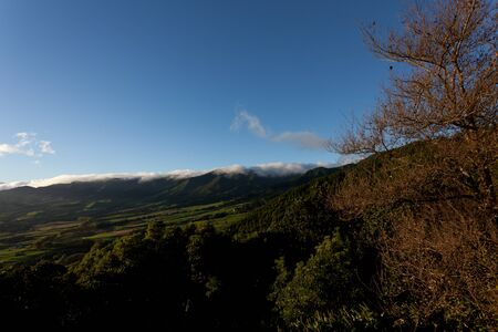 View over the island of San Miguel in the Azores