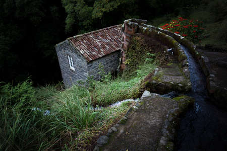 Old water mill on the island of San Miguel in the Azores Banque d'images