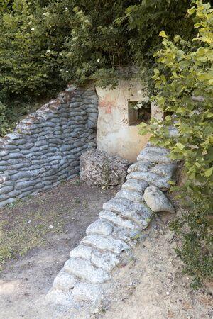 British First World War dugouts on the Mont de Kemmel (Kemmelberg) near Ypres in Belgium Editorial