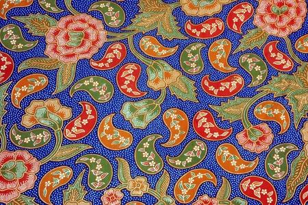 detailed patterns of batik cloth  photo