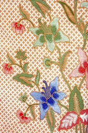 detailed patterns of indonesian batik cloth  photo