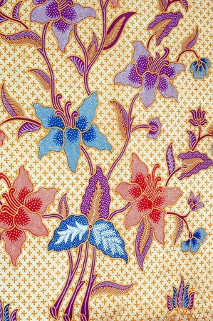 batik: profils d�taill�s de tissu de batik  Banque d'images