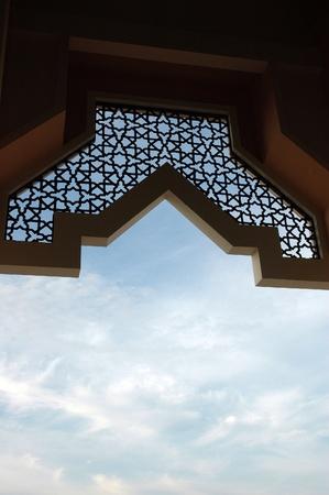 prayer tower: ornamento alla moschea Baitul Izzah a Tarakan Indonesia Archivio Fotografico