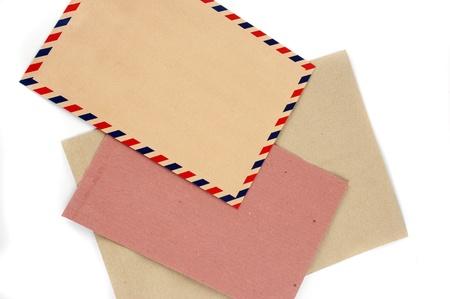 three types of envelopes isolated on white background Stock Photo - 11325031