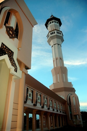 mosque Baitul Izzah in Tarakan Indonesia, as well as the center of the Muslims in this city photo