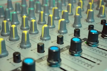 details of the control board sound mixer Stock Photo - 11324908