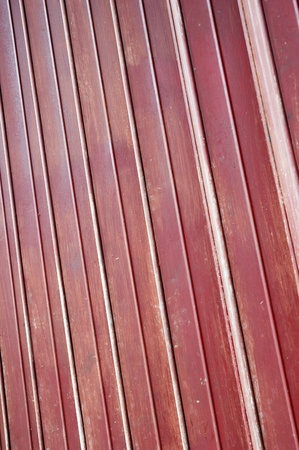 detailed of shape maroon iron door  Stock Photo - 11920685