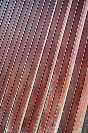 detailed of shape maroon iron door Stock Photo - 11920686