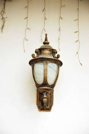antique furniture: decorative lights on the wall