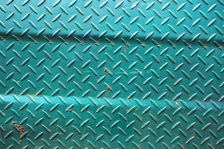 patterns of old green iron wall Stock Photo - 12678480