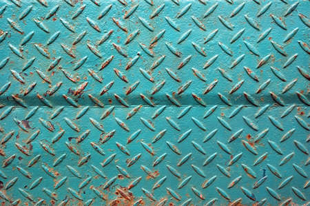 patterns of old green iron wall Stock Photo - 12678482