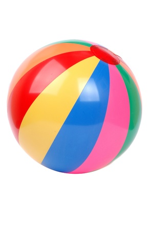 pool balls: colorful plactic ball isolated on white background Stock Photo