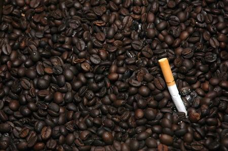 neutralizować: ziarna kawy jak popielniczki do neutralizowania dymu papierosowego